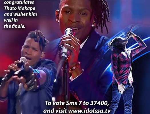 Well wishes to Thato Makape for the 2018 Idols Finals