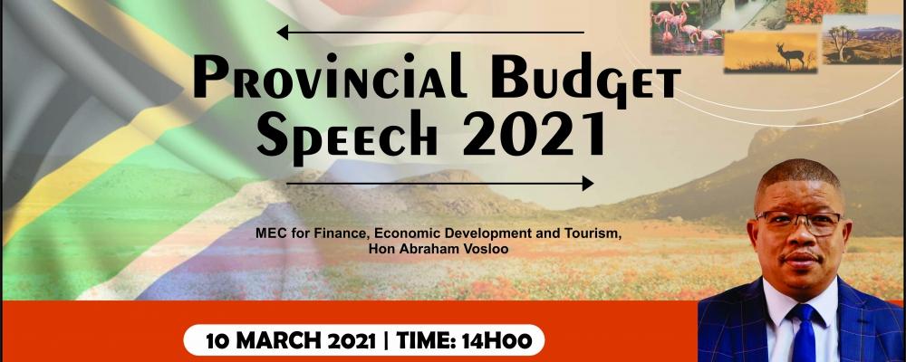 Provincial Budget Speech Advert