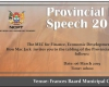 Provincial Budget Speech 2019 Advert