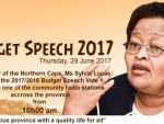 Office of the Premier Budget Speech 2017