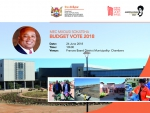DRPW - BUDGET VOTE 2018/19