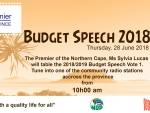 Office of the Premier 2018 Budget Speech  Advert