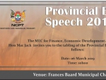 Provincial Budget Speech 2019 Advert