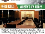 New Address for Ministerial Office  of Dept of Agriculture, Environmental Affairs, Rural Development & Land Reform