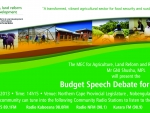 Agriculture, land reformrm & rural development budget speech debate 2013/2014